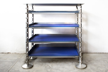 SOLD - Retrofuturism Aluminum Display Shelf
