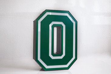 "SOLD - Vintage Varsity Channel Letter ""O"""