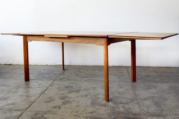 SOLD - Danish Modern Teak Dining Table, Expandable