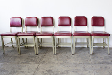 SOLD - Set of Six GoodForm Aluminium Side Chairs, Refinished