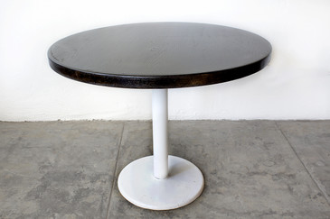 SOLD - Vintage Cafe Table with Ebonized Maple Top