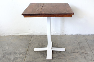 SOLD - Bistro Table with Custom Base and Antique Oak Top