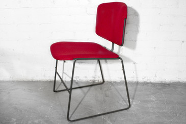1980s Steelcase Stackable Chair in Micro Linen