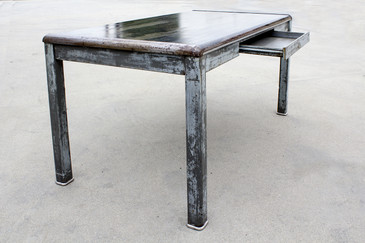 SOLD - 1940s Industrial Tanker Table by Art Metal, Refinished