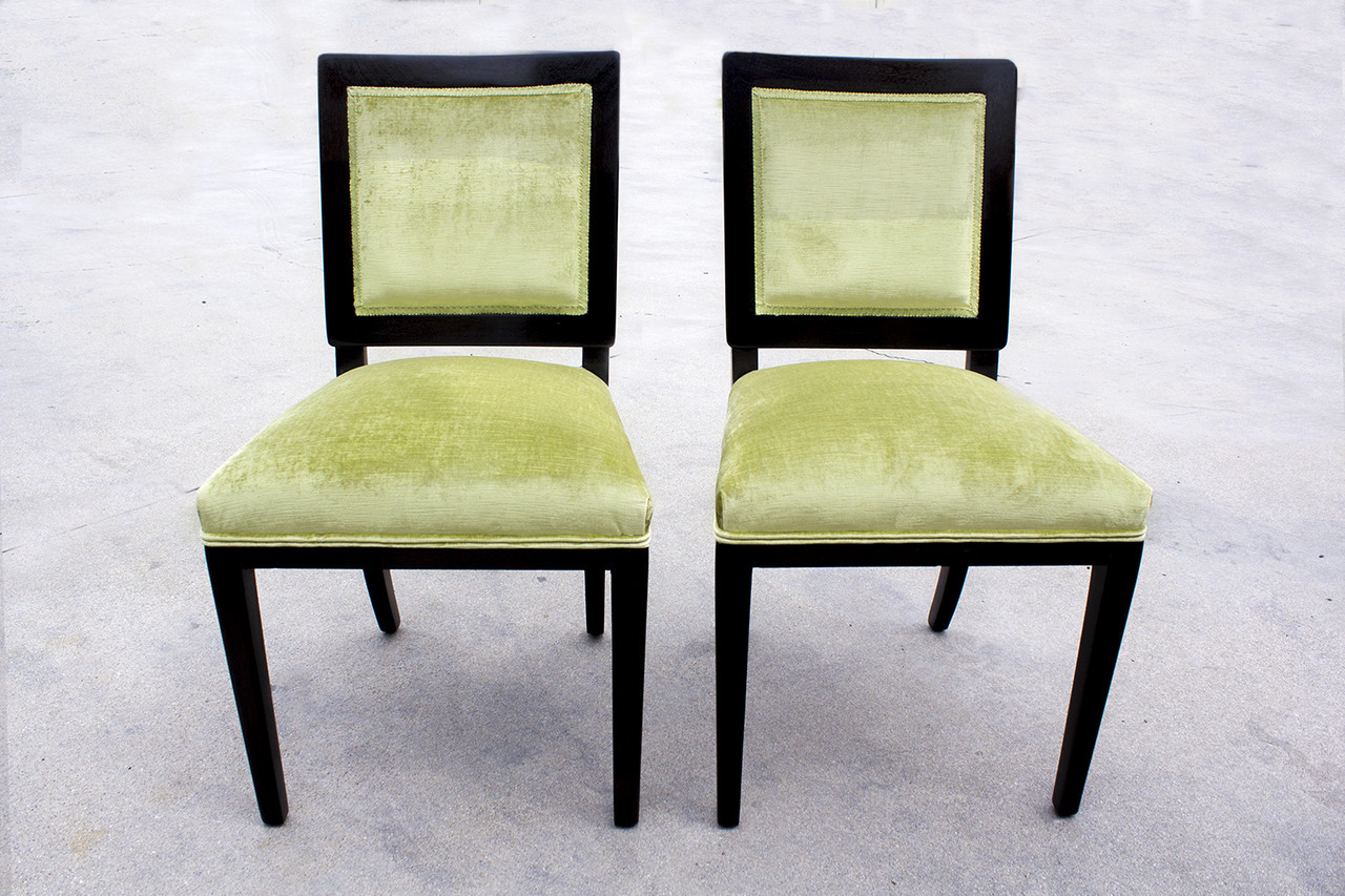 Awe Inspiring Pair Of 1940S Dunbar Dining Chairs Refinished Spiritservingveterans Wood Chair Design Ideas Spiritservingveteransorg