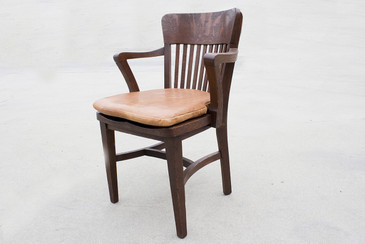 SOLD - 1940s Oak Lawyer's Chair, Refinished