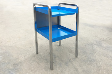 SOLD - 1960 Retro Stainless Steel Cart, Refinished, Free Shipping