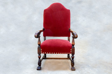 American Empire Style Armchair in Mahogany, c.1890