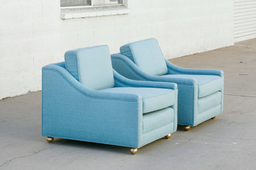 SOLD - Pair of 1950s Lounge Chairs, Refinished