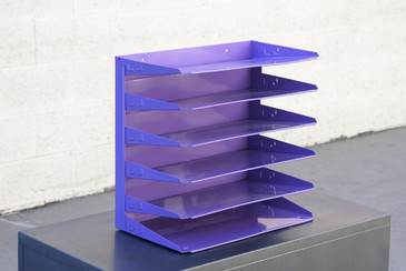 SOLD - Retro Office Mail Organizer Refinished in Lilac