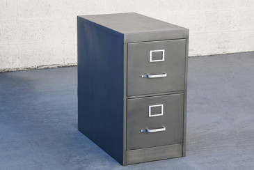 Mod Century Two Drawer Filing Cabinet, Custom Refinished to Order