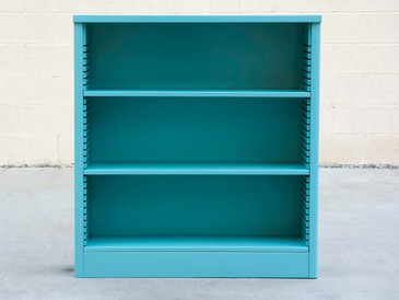 1960s Steel Bookcase in Turquoise, Custom Refinished to Order