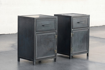 Custom Steel Nightstand Cabinets