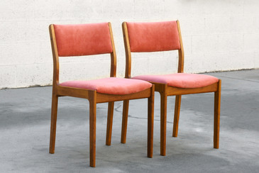 SOLD - Pair of Danish Modern Teak Dining Chairs