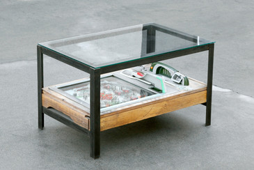 SOLD - Custom Pachinko Game Coffee Table by Rehab Vintage Interiors