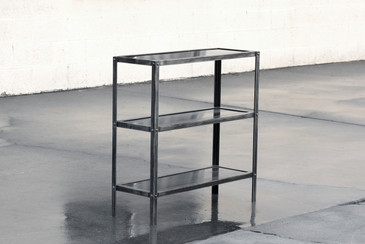 Custom Steel Three Tier Shelf by Rehab Vintage Interiors