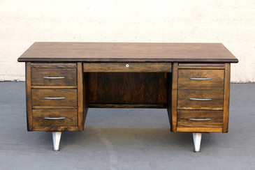 SOLD - Impressive California Modern Desk in Walnut
