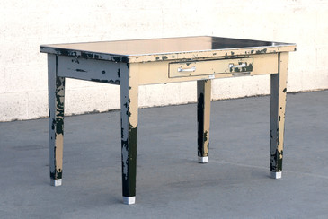 SOLD - 1920s General Fireproofing Tanker Table with Patina