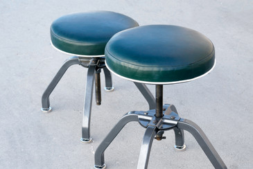 Pair of Rare Buty-Crafters Salon Stools, 1940s