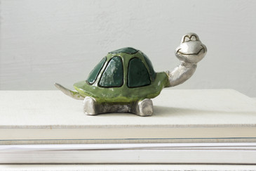 Turtle Paperweight Sculpture by Lauren Steinberg
