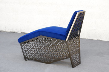 Custom Modern Petite Chaise Lounge Chair