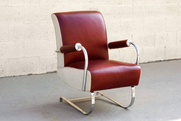 Rare Kem Webber Art Deco Armchair, Refinished