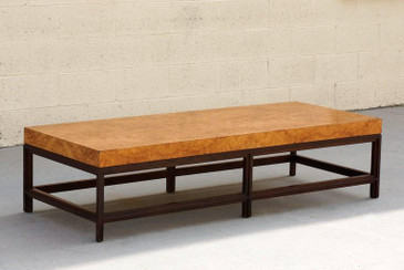 SOLD - Contemporary Burl Wood Coffee Table