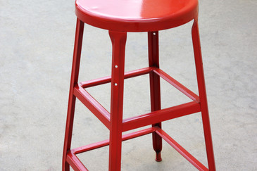 SOLD - 1940s Vintage Industrial Stool, Refinished