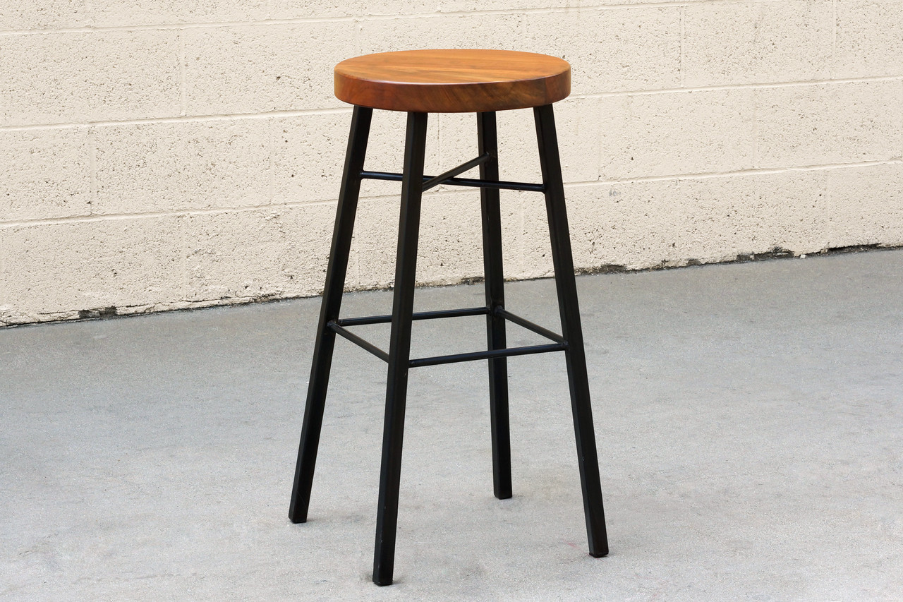 Super Sold Custom Tiger Wood And Steel Stool Alphanode Cool Chair Designs And Ideas Alphanodeonline