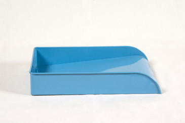 SOLD - Vintage Steel Letter Tray Refinished in Baby Blue