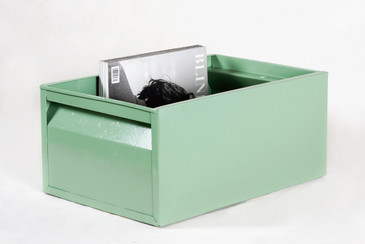 SOLD - 1940s Industrial Storage Bin, Refinished in Sage Green