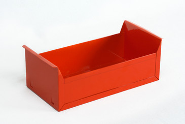 SOLD - 1950s Card File Drawer, Refinished in Red