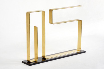 "Dan Murphy Modernist Brass Sculpture, ""Neon,"" 1976, Free Shipping"