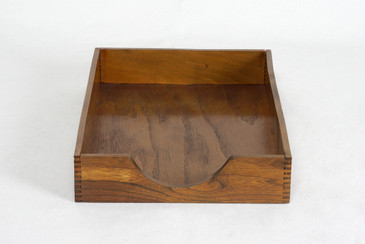 SOLD - 1960s Wood Desktop Letter Tray by Hedges Files, Free Shipping