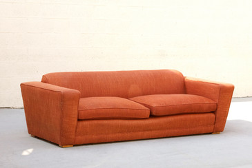 Paul Frankl Art Deco Club Sofa, Original 1940s