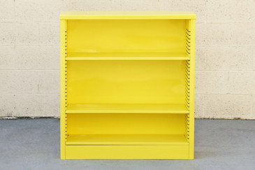 1960s Steel Bookcase in Mellow Yellow, Custom Refinished to Order