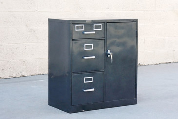 SOLD - 1960s Safe Cabinet by Borroughs, Refinished