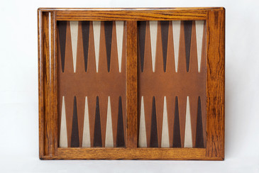 SOLD - Vintage Oak Backgammon Board- Free U.S. Shipping