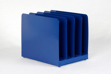 SOLD - Retro Office Memo/ Mail Organizer Refinished in Midnight Blue, Free Shipping