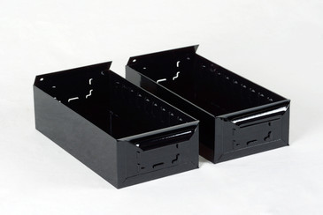 1950s Card File Drawers, Refinished in Gloss Black, Two Available, Free Shipping