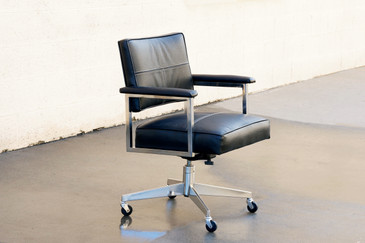 SOLD - Vintage Steelcase Office Chair, Refinished in Black