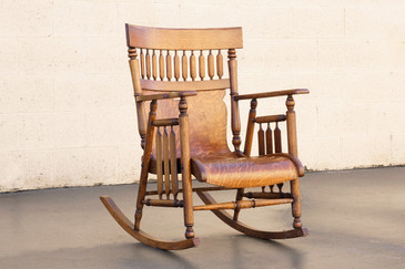SOLD - Craftsman Oak Bentwood and Arrow Back Rocking Chair