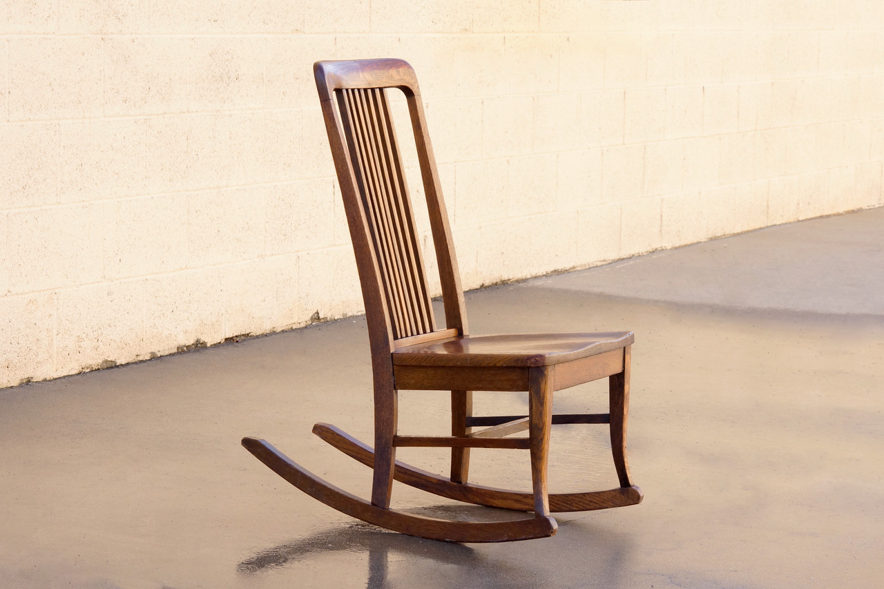Fine Sold American Craftsman Childs Rocking Chair With Slat Back Machost Co Dining Chair Design Ideas Machostcouk