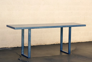 Custom Metallic Midnight Blue Console Table