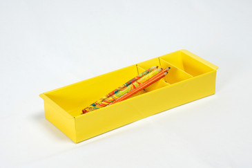 Steel Tanker Drawer Insert/ Organizer, Refinished in Mellow Yellow, Free Shipping