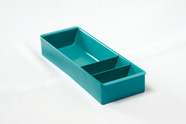 SOLD - Steel Tanker Drawer Insert/ Organizer, Refinished in Turquoise, Free Shipping