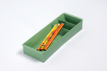 Steel Tanker Drawer Insert/ Organizer, Refinished in  Sage Green, Free Shipping