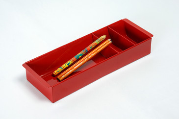 SOLD - Steel Tanker Drawer Insert/ Organizer, Refinished in Ruby Red, Free Shipping