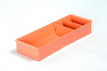 SOLD - Steel Tanker Drawer Insert/ Organizer, Refinished in Peach