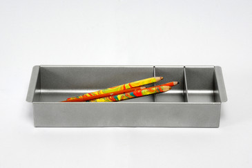 Steel Tanker Drawer Insert/ Organizer, Refinished in Silver, Free Shipping, 2 Available